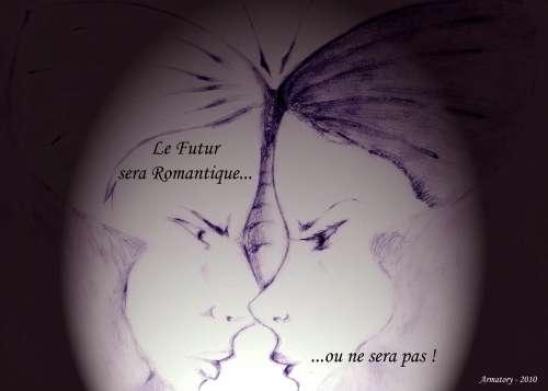 le combat du papillon,poésie,romantisme,dessin,illustration