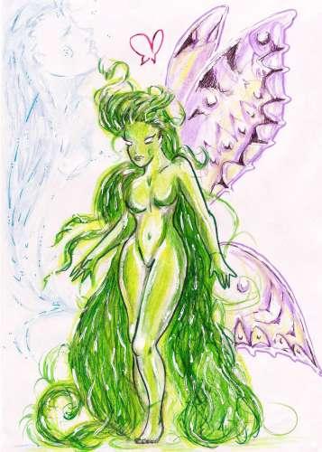 le combat du papillon,poésie,romantisme,rêve,fée,ange,âme,dualité,histoire,nouvelle,fantastique,dryade
