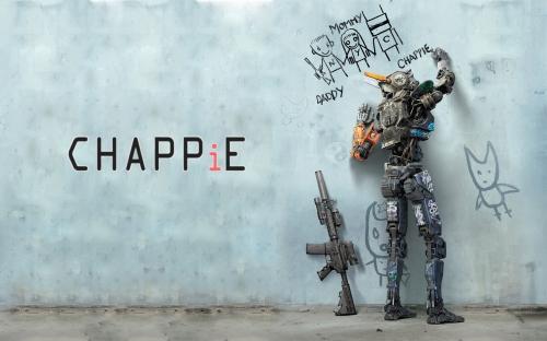 chappie film,cinéma sf,robots,futuriste,cyborgs,androïdes
